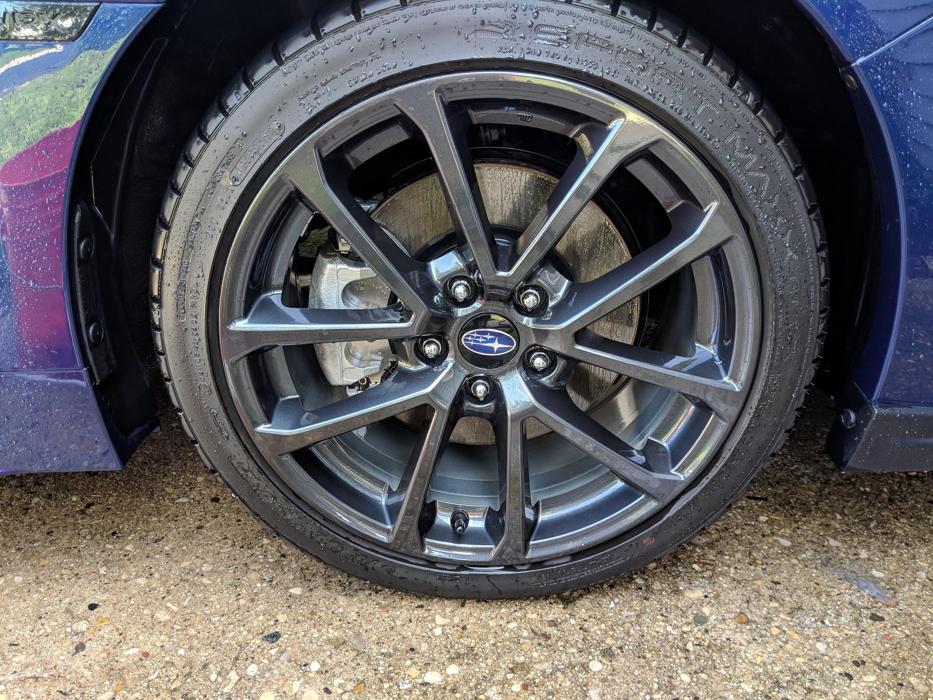 Wheel rinsed