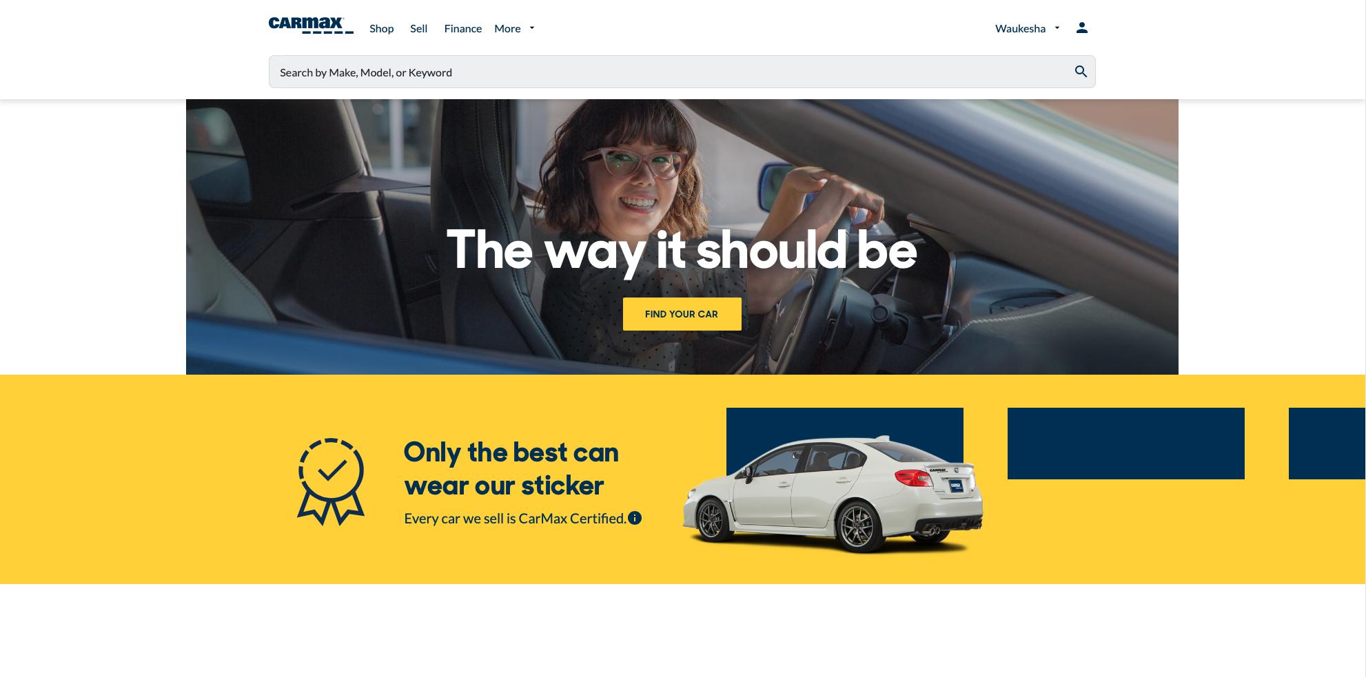 CarMax's website