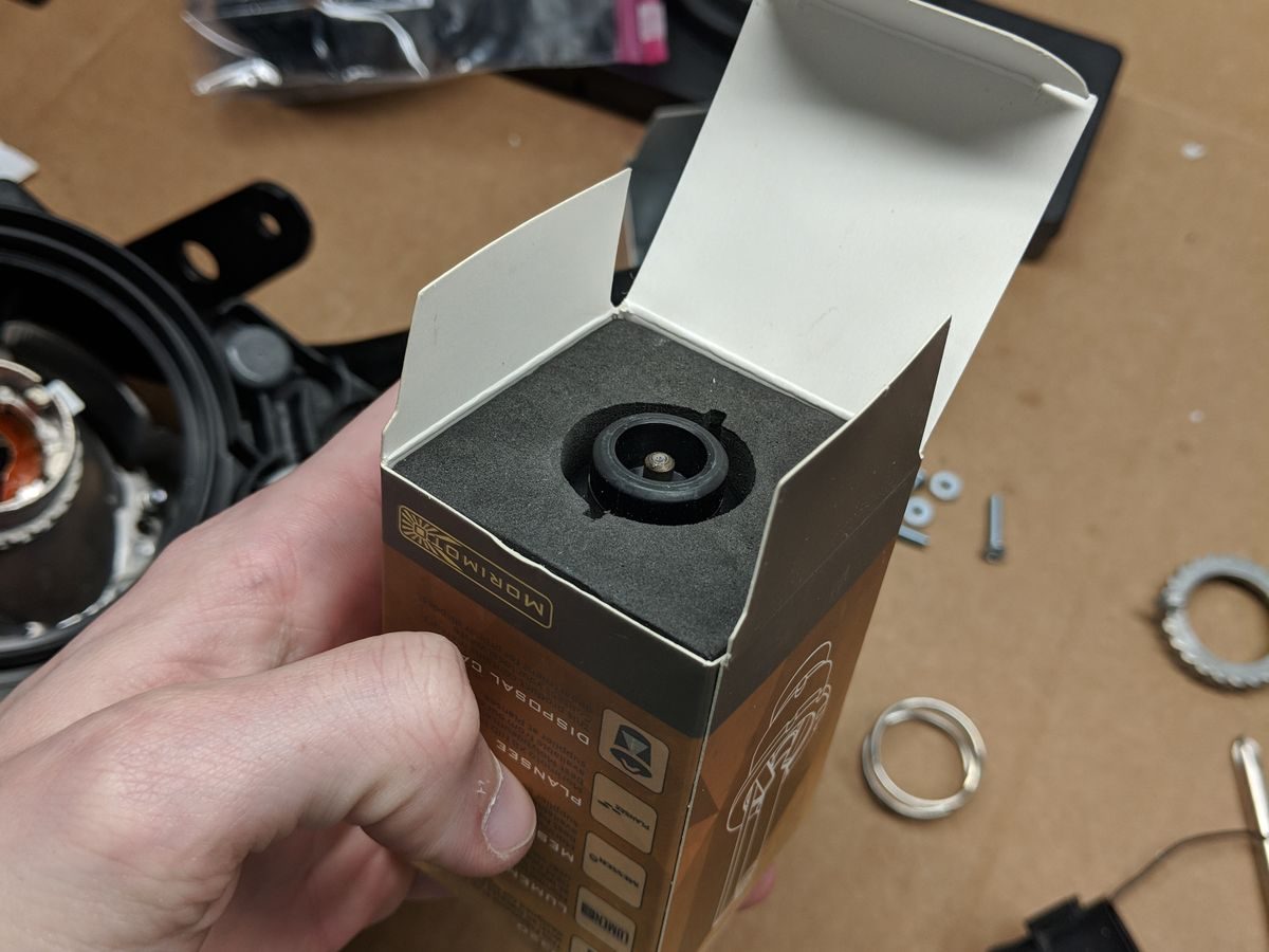 Removing the bulb from the box