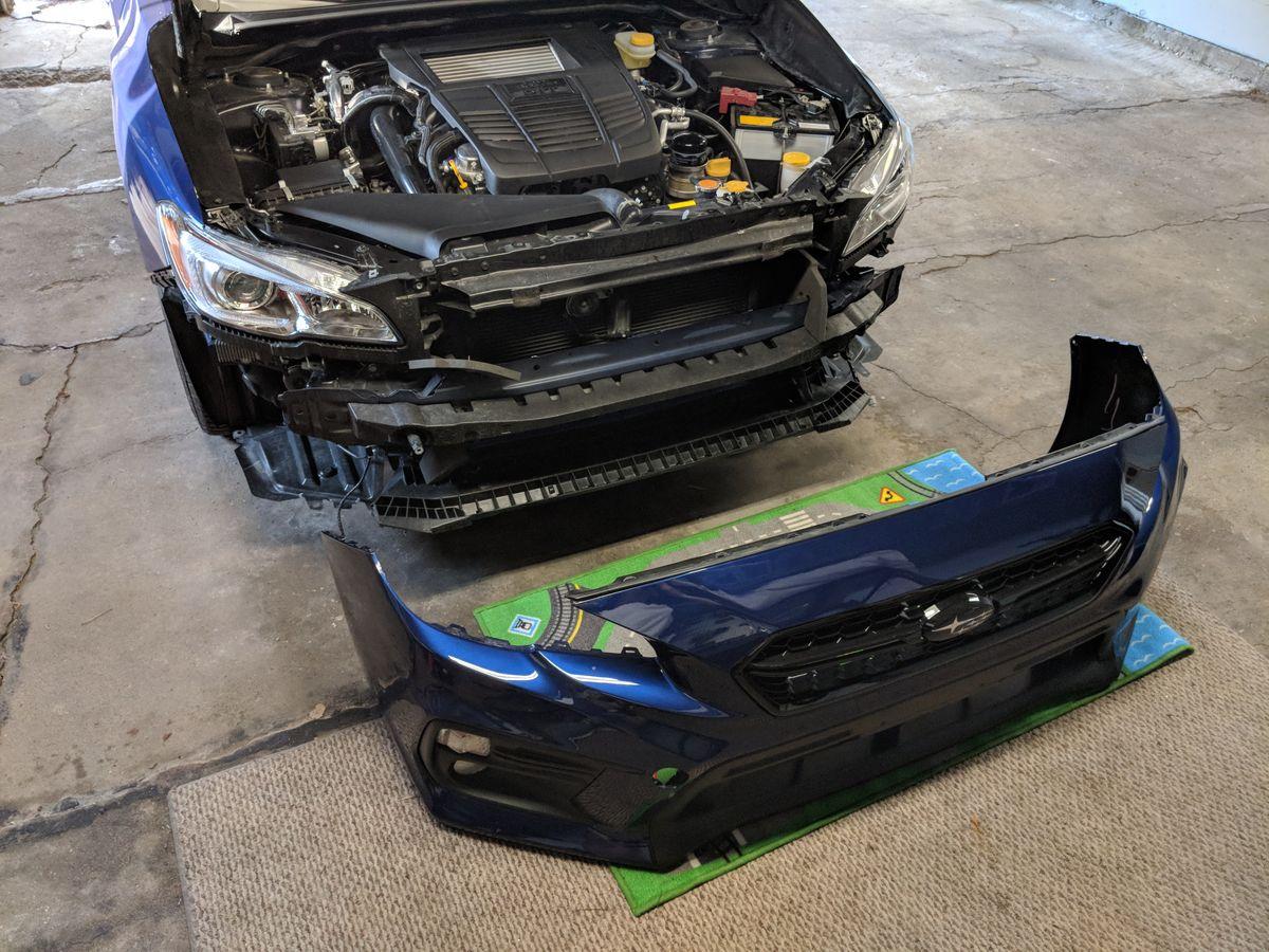 Bumper removed