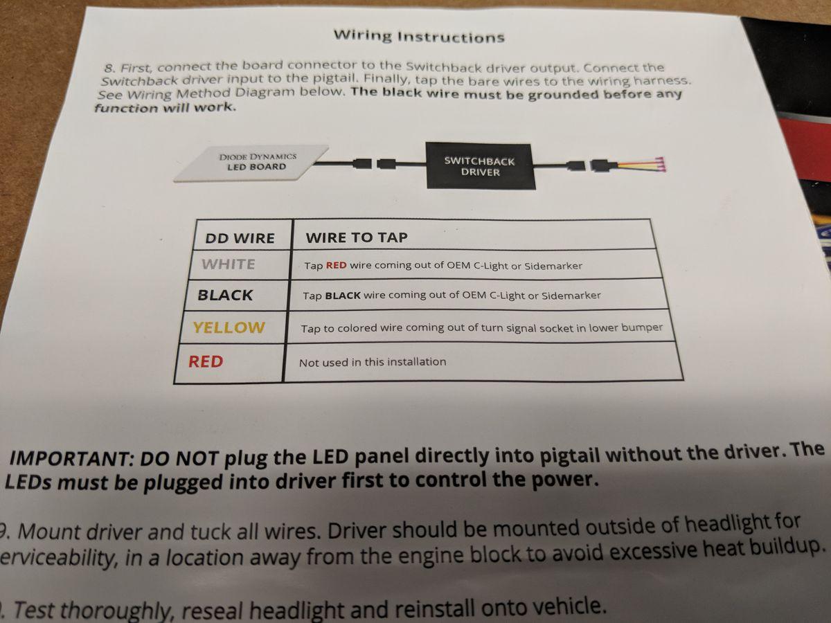 Bens Car Blog Drl Wiring Instructions C Light