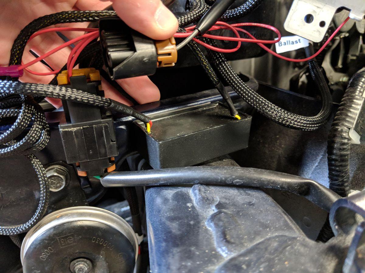 DRL resistor mounting