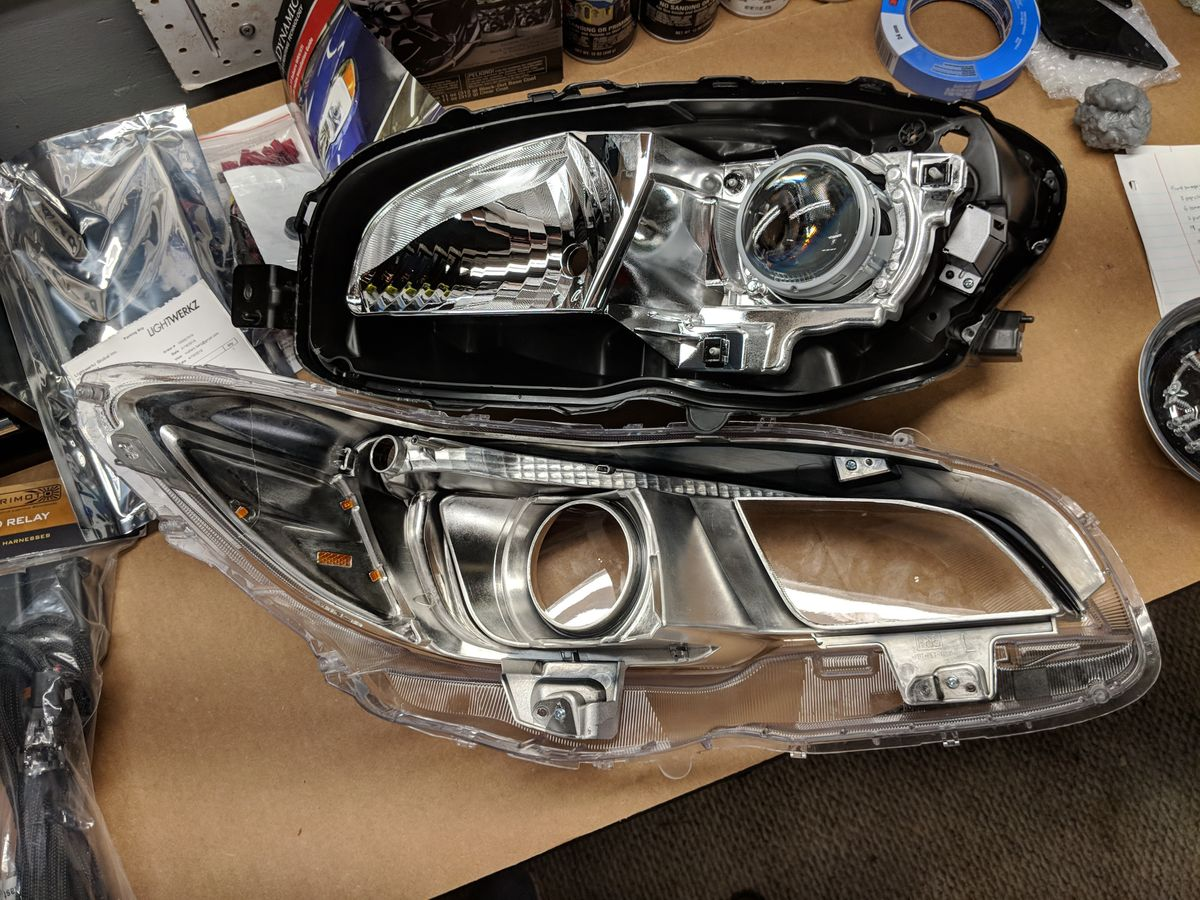 Headlights split