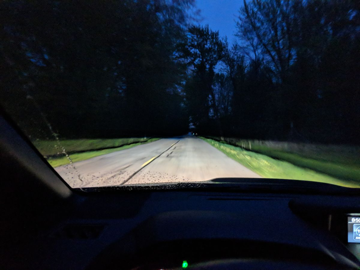 HID low beams while driving