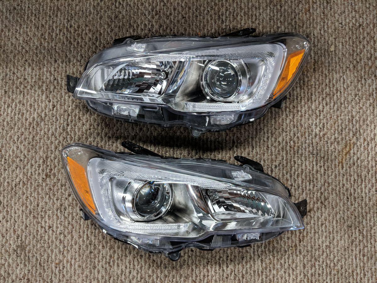 OEM headlights removed