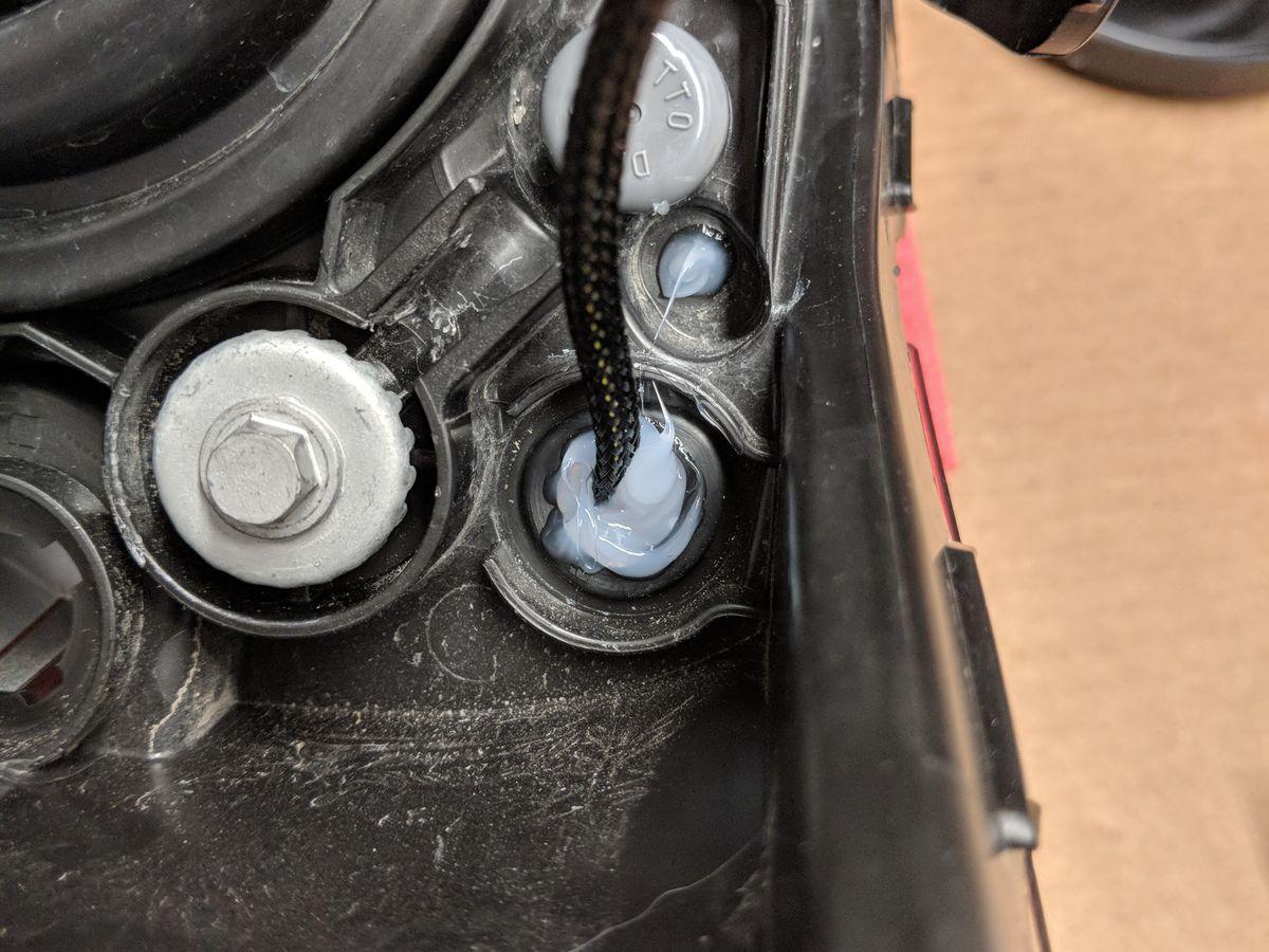 Hole sealed