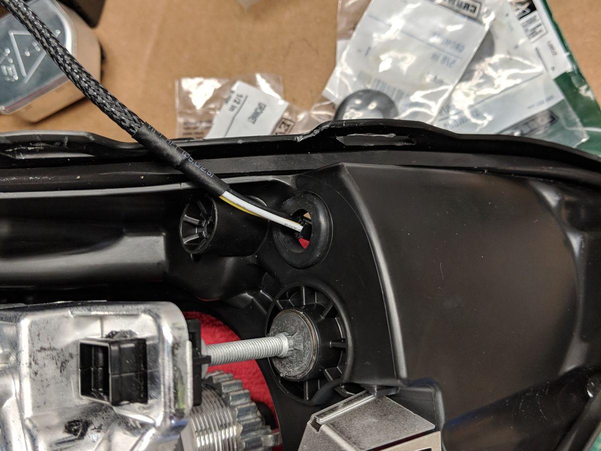 Feeding the DRL wiring