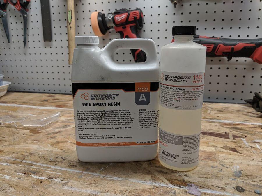 Composite Envisions epoxy + hardener