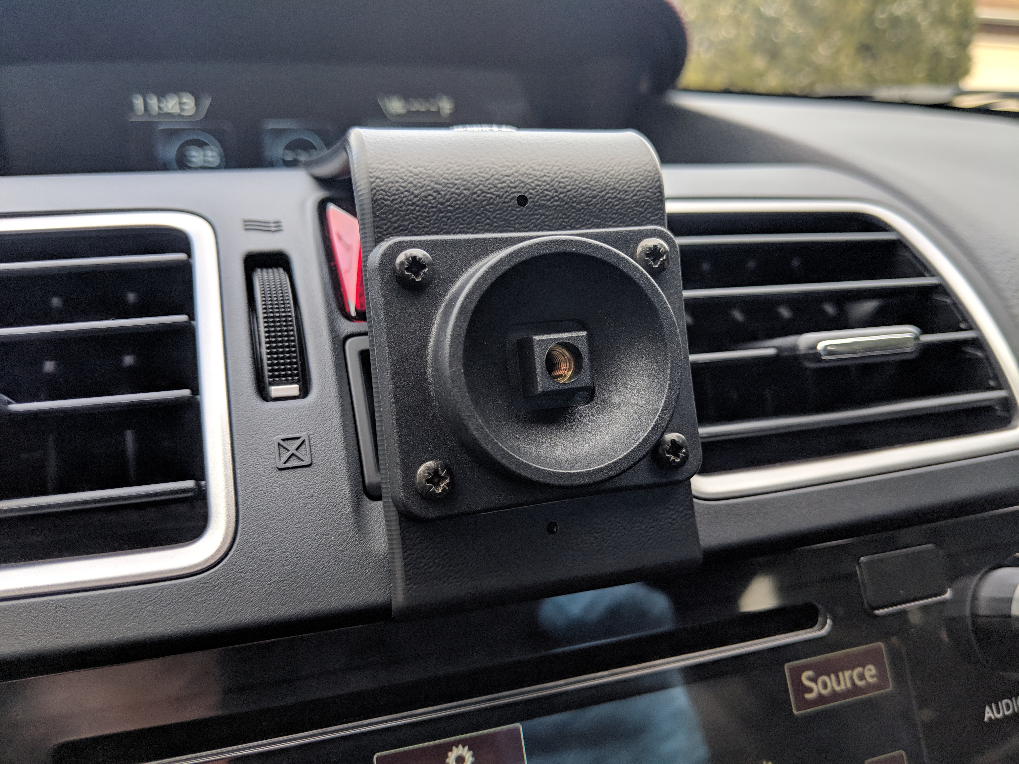 Adjustable Phone Holder mounted to the Center Mount