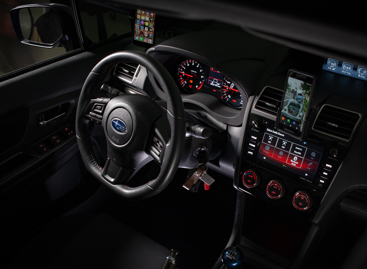 The WRX interior with professional lighting