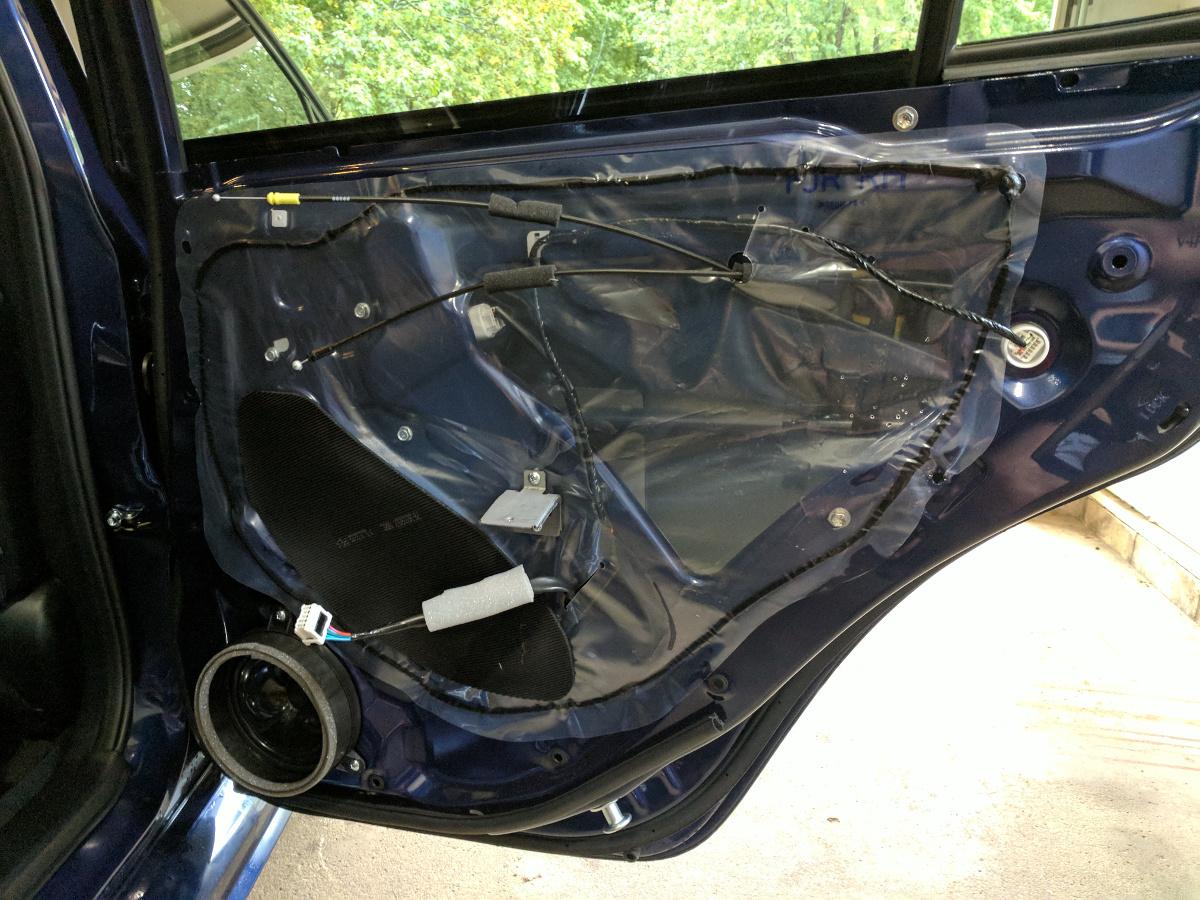Rear passenger door