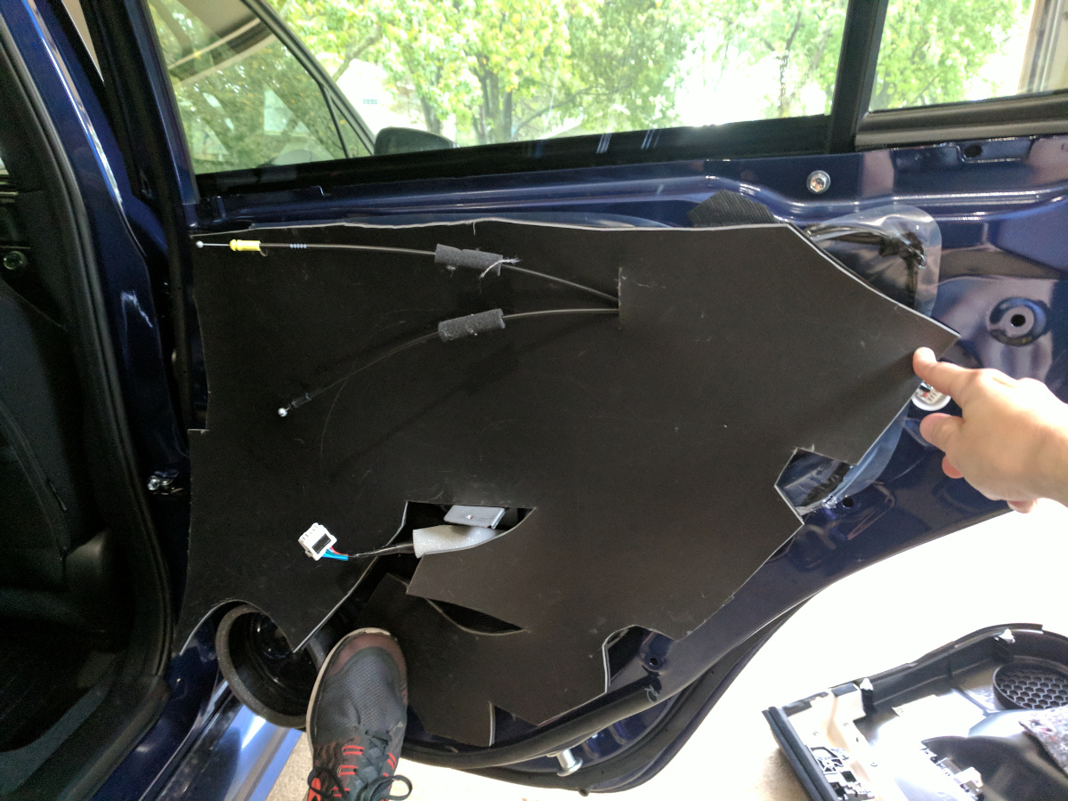 Mounting up the CCF/MLV for the rear doors