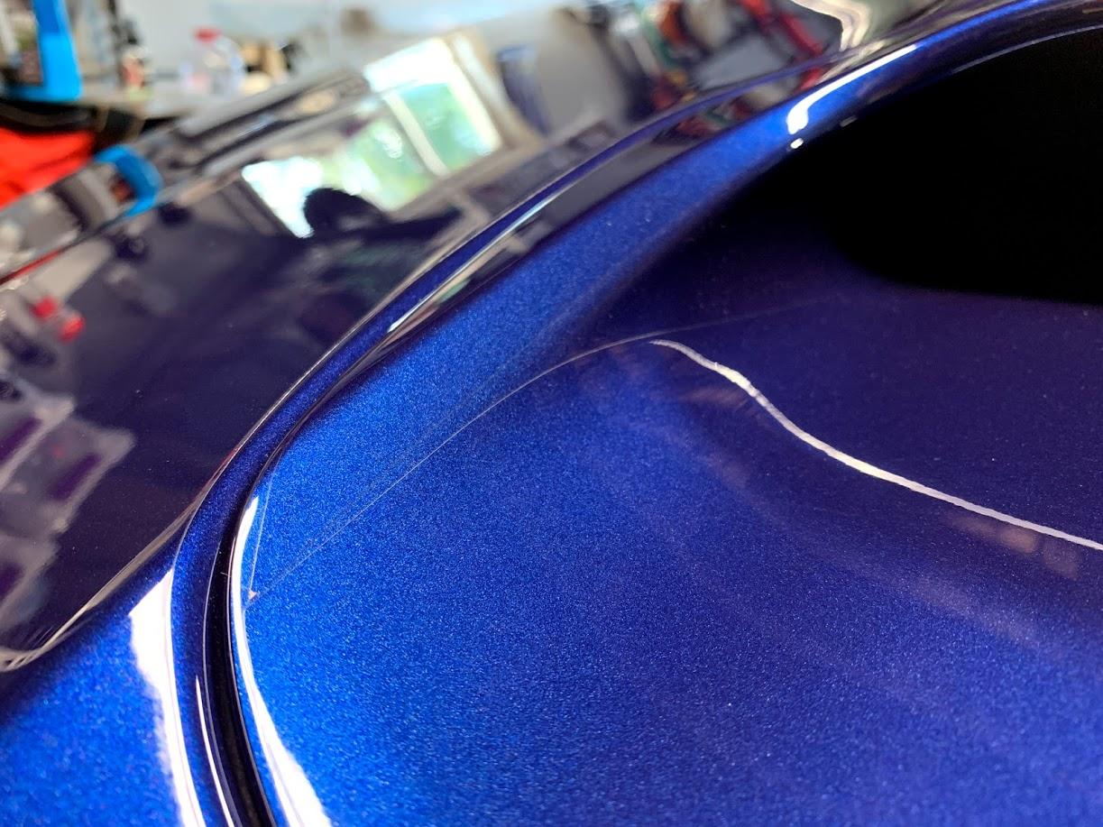 WRX hood protected by XPEL