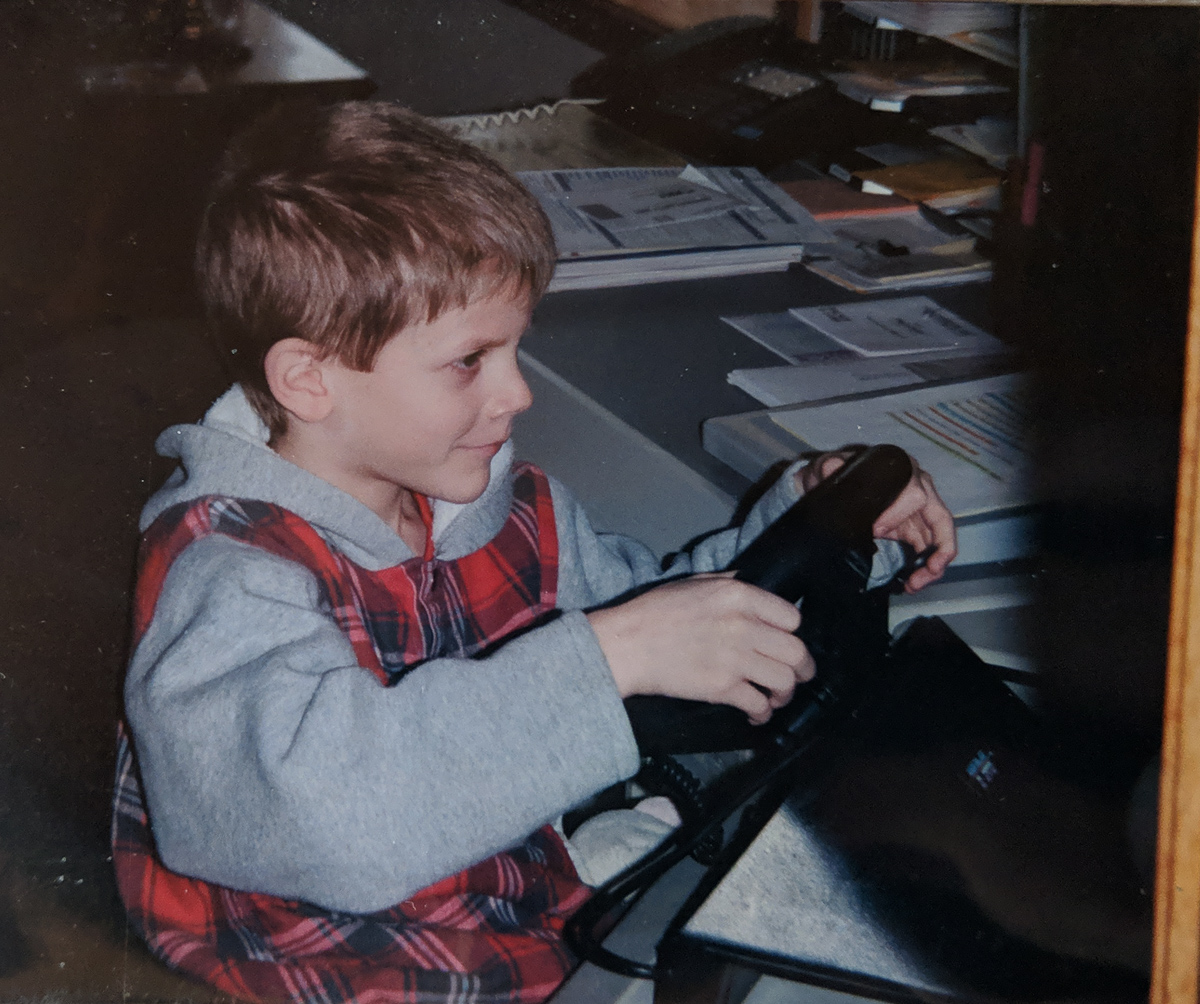 Me behind the wheel as a five year old