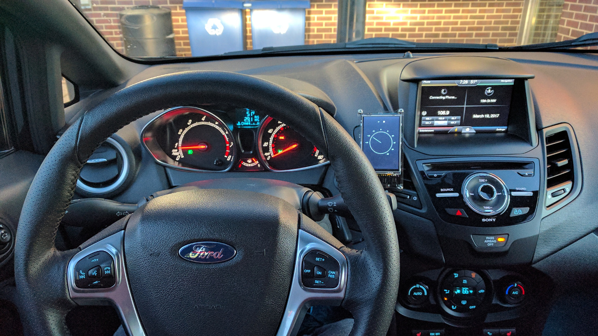View from the driver's seat
